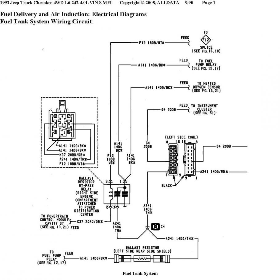 1996 jeep cherokee fuel pump wiring diagram