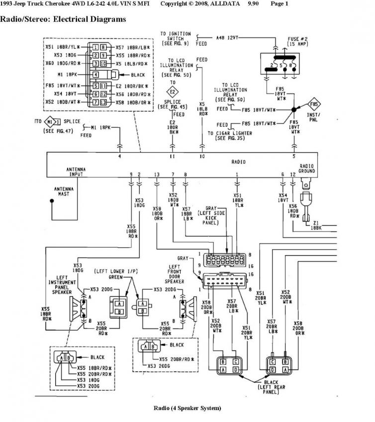 92 cherokee radio install rh cherokeetalk com  aw4 transmission wiring diagram