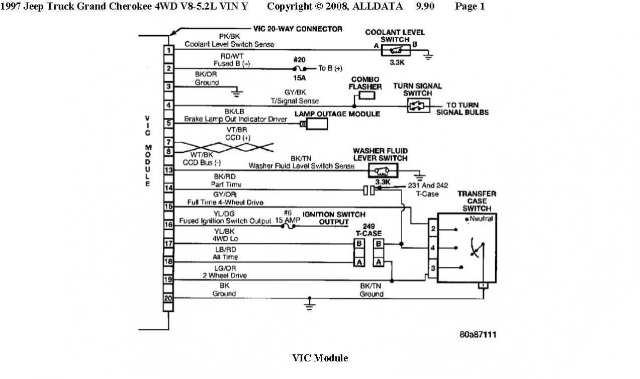 Here is the vic wiring, it didn't show up on the 4.0 and the chime diagram  (looks the same)