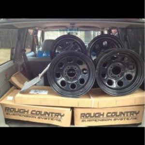 My 4.5 rough country lift & my cragar soft 8's.!