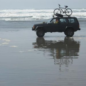 Oregon Coast...50 Miles of beach and only 2 rigs...