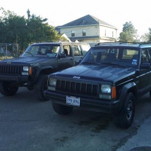 My xj in the right and my cousins