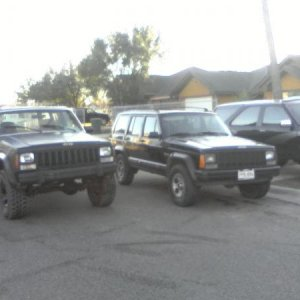 My xj (left) nxt to stock xj (right)