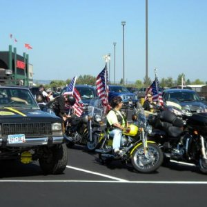 Creep is my Minnesota Patriot Guard Riders support vehicle