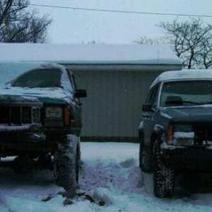 my project jeep and my first xj