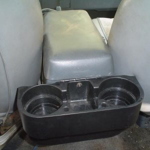 Rear cup holders.